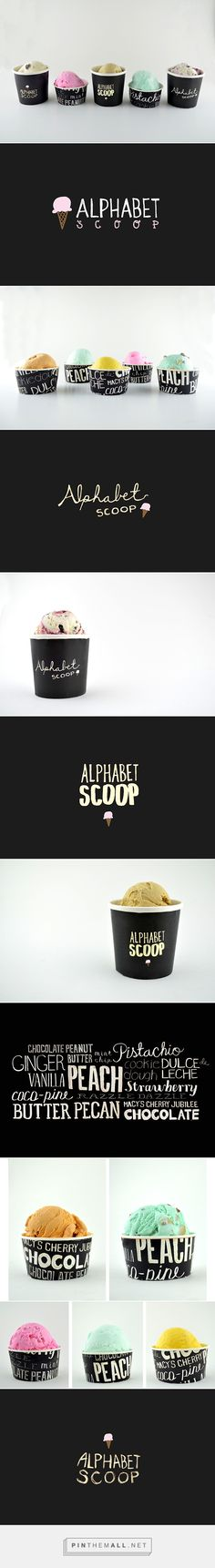 Alphabet Scoop Ice Cream Packaging Rebrand by Rebecca Lim | Fivestar Branding – Design and Branding Agency & Inspiration Gallery