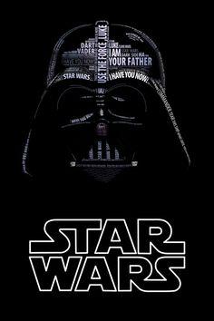 Star Wars Typo Portraits Darth Vader on Design You Trust