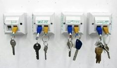 Key rack with network points