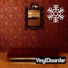 Snowflake Wall Decal - Vinyl Decal - Car Decal - CF043