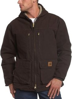 Best Winter Jackets for Men - Carhartt Men's Sherpa Lined Sandstone Jackson Coat - see more here: http://www.perfect-gift-store.com/best-winter-jackets-for-men.html