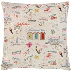 Wish You Were Here Cushion   Cath Kidston