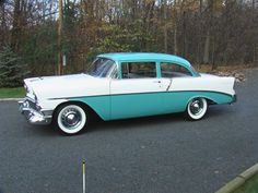 1956 Chevrolet two-tone. Chevy, Chevrolet, Travel Style, Traveling, Exterior, Travel, Trips, Outdoor Spaces