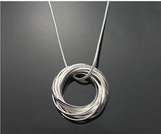 Collana di modo libero di trasporto, 925 monili d'argento della collana dei monili necklace. fashion. silver prezzo necklace. wholesale! RM04