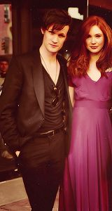 Matt Smith and Karen Gillan...never knew Matt could look so sexy