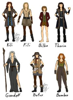#cosplay #hobbit #gandalf #girl #kili #fili #bilbo #thorin #bofur