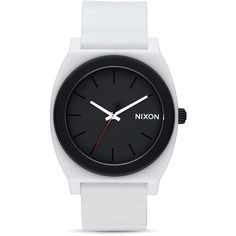 Nixon Time Teller P Star Wars Stormtrooper White Watch, 40mm ($75) ❤ liked on Polyvore featuring jewelry, watches, accessories, fillers, reloj, white, white watches, white wrist watch, white jewelry and nixon wrist watch