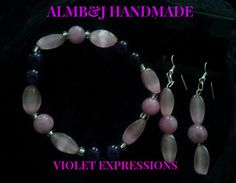 Violet Expressions  Bracelet and Earring Set Available in our Etsy shop today. Pick this up or any other great jewelry set www.etsy.com/shop/ALMBandJHANDMADE