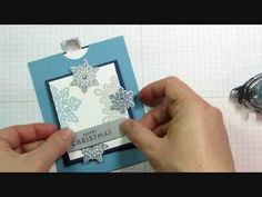 Doubler Slider Card Tutorial with Stampin' Up! Flurry of Wishes - YouTube