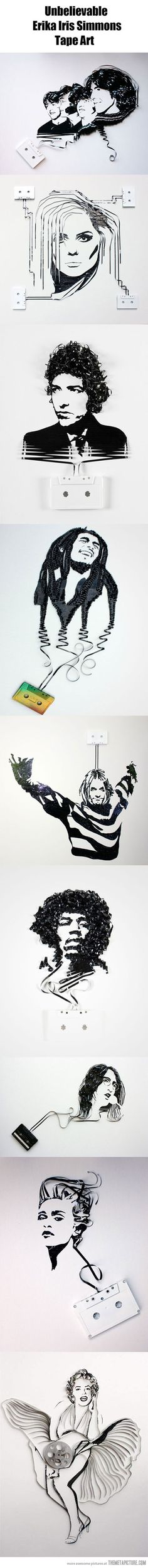 Amazing tape art