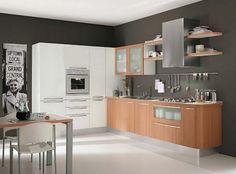 holz-arbeitsplatten-kueche-modern-dunkel-weisse-fronten-graue ...   {Küche modern holz weiß 75}