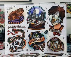 Harry Potter Flash Sheet by DavisRiderPrints on Etsy