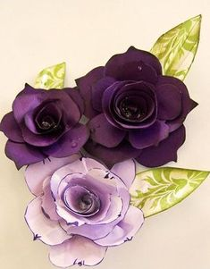 Paula's Roses - Tutorial 1: teaches rolled flowers with added petals to give a more realistic look