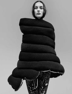 Comme des Garçons Looks in 'A New Beauty' by Craig McDean for Interview, August 2014.