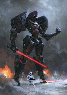 """alienspaceshipcentral: """"defunctalot: """"Vader mech… By Emrah elmasli """" From one science fiction lover to another…. """""""