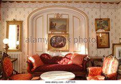 The Adelphi Hotel parlor room, Saratoga Springs, NY - Stock Image