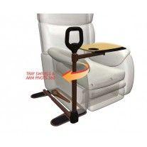 Barre d'appui pour fauteuil avec tablette : aide à la levée et au confort http://www.seniorboutique.fr/accessoires-fauteuils-et-chaises-pour-seniors/812-barre-d-appui-pour-chaise-fauteuil-avec-tablette--5028319044909.html