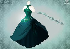 The Power Of Good-bye by Neko-Vi on DeviantArt Dress Drawing, Drawing Clothes, Fashion Design Drawings, Fashion Sketches, Drawing Fashion, Character Costumes, Character Outfits, Vestidos Anime, Fantasy Gowns