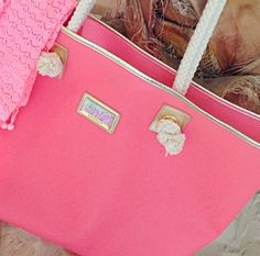 Lilly Pulitzer Summer '13 Shoreline Tote in Yummy Melon via Lilly Pulitzer Instagram