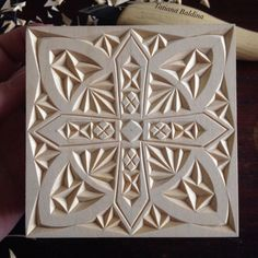 """Winter motif"" (chip carving, pattern by Tatiana Baldina) instagram.com/tatbalcarvings"