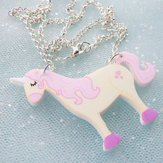 Hoobynoo World - Unicorn Illustrated Acrylic Necklace, £12.50 (http://shop.hoobynooworld.co.uk/unicorn-illustrated-acrylic-necklace/)  Purchased by KATIE PRICE