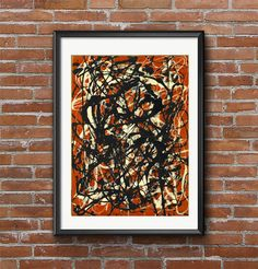 Jackson Pollock  Free Form New York by MarksVintagePosters on Etsy