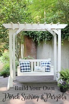 DIY Porch Swing & Pergola - Free Building Plans