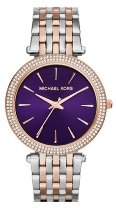 pretty purple face Michael Kors watch @nordstrom http://rstyle.me/n/ritqhr9te