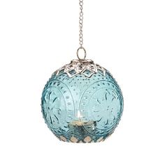 Small Aquamarine Globe Metal and Glass Candle Lantern Hanging Candle Lanterns, Lantern Candle Holders, Candle Lighting, Star Lanterns, Garden Lanterns, Unique Lighting, Lighting Design, Rum, Peacock Decor