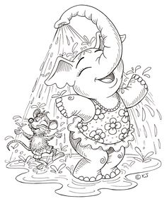 .elephant shower