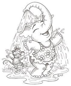 .elephant shower