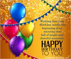 Birthday wishes for your near and dear ones !!