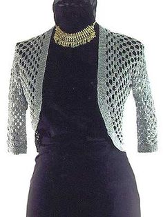 Stitch Diva Slinky Fitted Knit and Crochet Shrug Pattern at Dream Weaver Yarns LLC