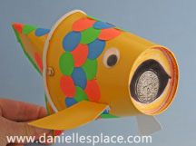Fish with coin in its Mouth Craft from  www.daniellesplace.com
