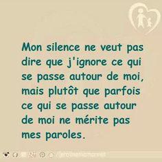 Mon silence