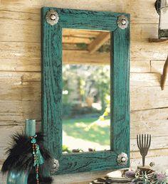 Turquoise Heaven Mirror