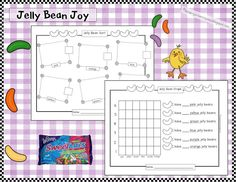 Jelly Beans Sort & Graph (free printable)