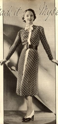 Vintage Chic: I Made It Myself - Simplicity Pattern 2306 from 1937