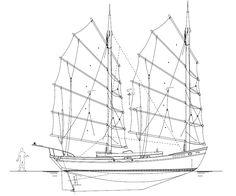 Jasmine 49 Junk Rig - Kasten Marine Design, Inc. Best Boats, Cool Boats, Small Boats, Boat Building Plans, Boat Plans, Boat Drawing, Tug Boats, Boat Design, Model Ships