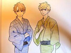 Yamamori Mika's sensei sketch / Summer Yukata // shishio sensei x mamura daiki
