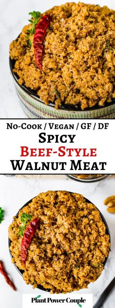 This spicy beef-style walnut meat is our go-to plant-based meat recipe for vegan tacos, meat-free nachos, crunch wraps, and beyond! Walnut beef is easy to make with only 9 staple ingredients, 3 simple steps, and 5 minutes of active time. The spicy savory flavor will make you fall in love with walnuts forever. Thank you to our friends at @cawalnuts for sponsoring this blog post! #sponsored #cawalnuts #walnutmeat #vegantacos Vegan Recipes Beginner, Recipes For Beginners, Easy Healthy Recipes, Meat Recipes, Food Processor Recipes, Dairy Free Queso, Vegan Tacos, Spicy, Beef