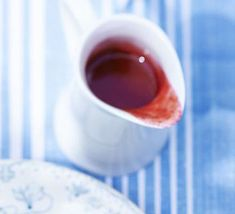 Red berry coulis. A versatile redcurrant and raspberry sauce to serve on desserts, with cake or spooned onto ice cream