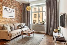 DECORANDO CON LADRILLO UNA PARED DE UN APARTAMENTO PERFECTO   Decorar tu casa es facilisimo.com
