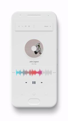 Show off your work for the Kustom Live Wallpaper App. Ui Design Mobile, App Ui Design, User Interface Design, Mobile Ui, Layout Design, Android App, Google Material Design, Graphic Design Books, Music App