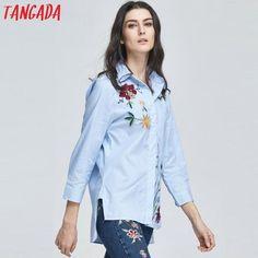 Beautiful Korean Embroidery Blouse Shirt