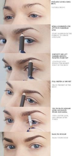 DIY Eyebrows With A Pencil diy diy ideas easy diy diy fashion diy makeup diy tutorial diy picture tutorial diy do it style jewelry designs cards All Things Beauty, Beauty Make Up, Beauty Secrets, Beauty Hacks, Beauty Tips, Beauty Ideas, Beauty Trends, Natural Brows, Natural Hair