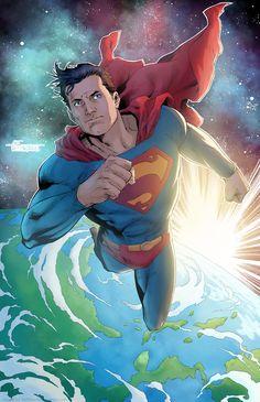 Superman by Art Thibert Justice League Characters, Dc Characters, Dc Comics Art, Marvel Dc Comics, Superman Wallpaper, Superman Artwork, Superman Stuff, Superman Logo, Batman