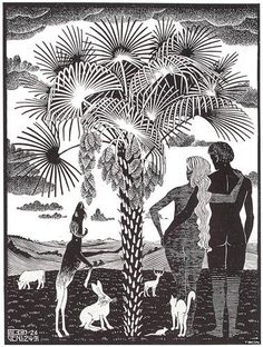 The 6th Day of the Creation - M.C. Escher