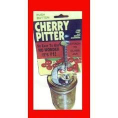 Cherry Pitter Push Button for Glass Jar Glass Jars, Mason Jars, Cherry Images, Cherry Pitter, Kitchen Dining, Gadgets, Buttons, Cherries, Amazon