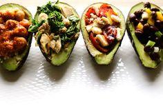 Stuffed avocados 4 ways